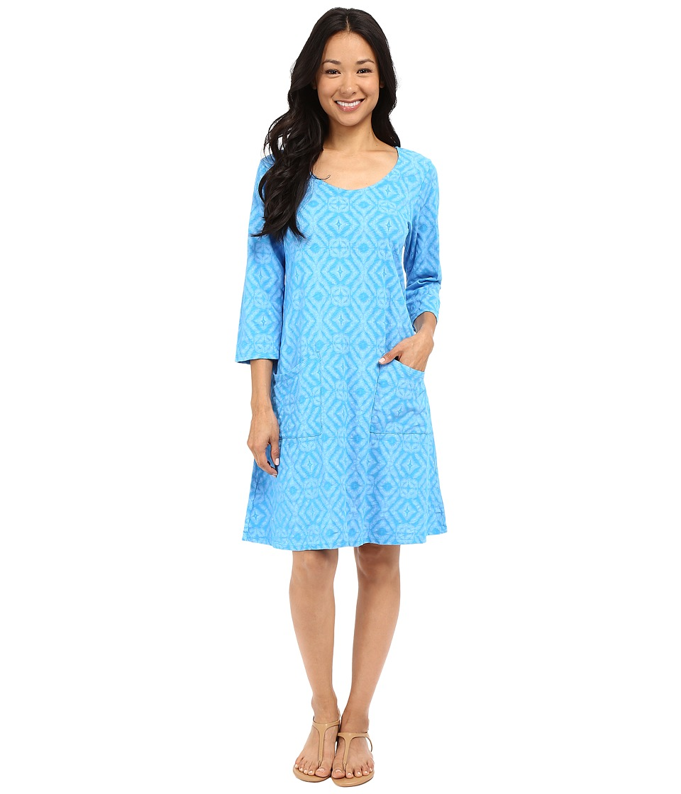 Fresh Produce Shibori Dalia Dress Marina Blue Womens Dress