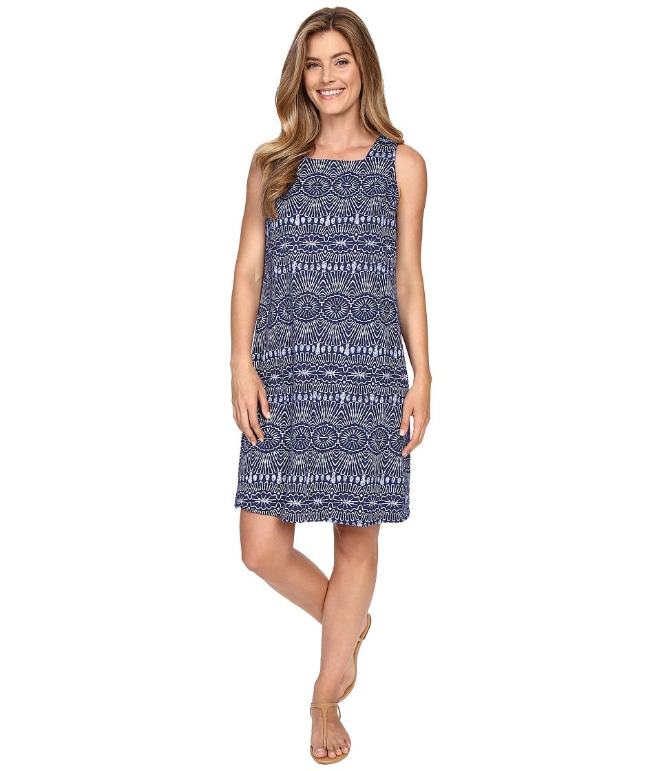 Fresh Produce Tribal Square Neck Dress Moonlight Blue Womens Dress