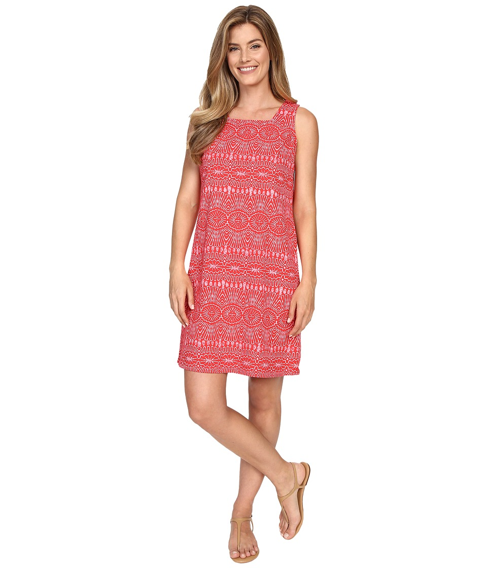 Fresh Produce Tribal Square Neck Dress Barn Red Womens Dress