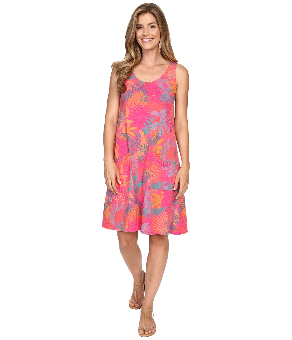 Fresh Produce Vintage Palm Drape Dress Papaya Womens Dress