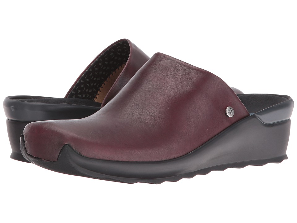 Wolky Go (Bordo Velvet Leather) Sandals