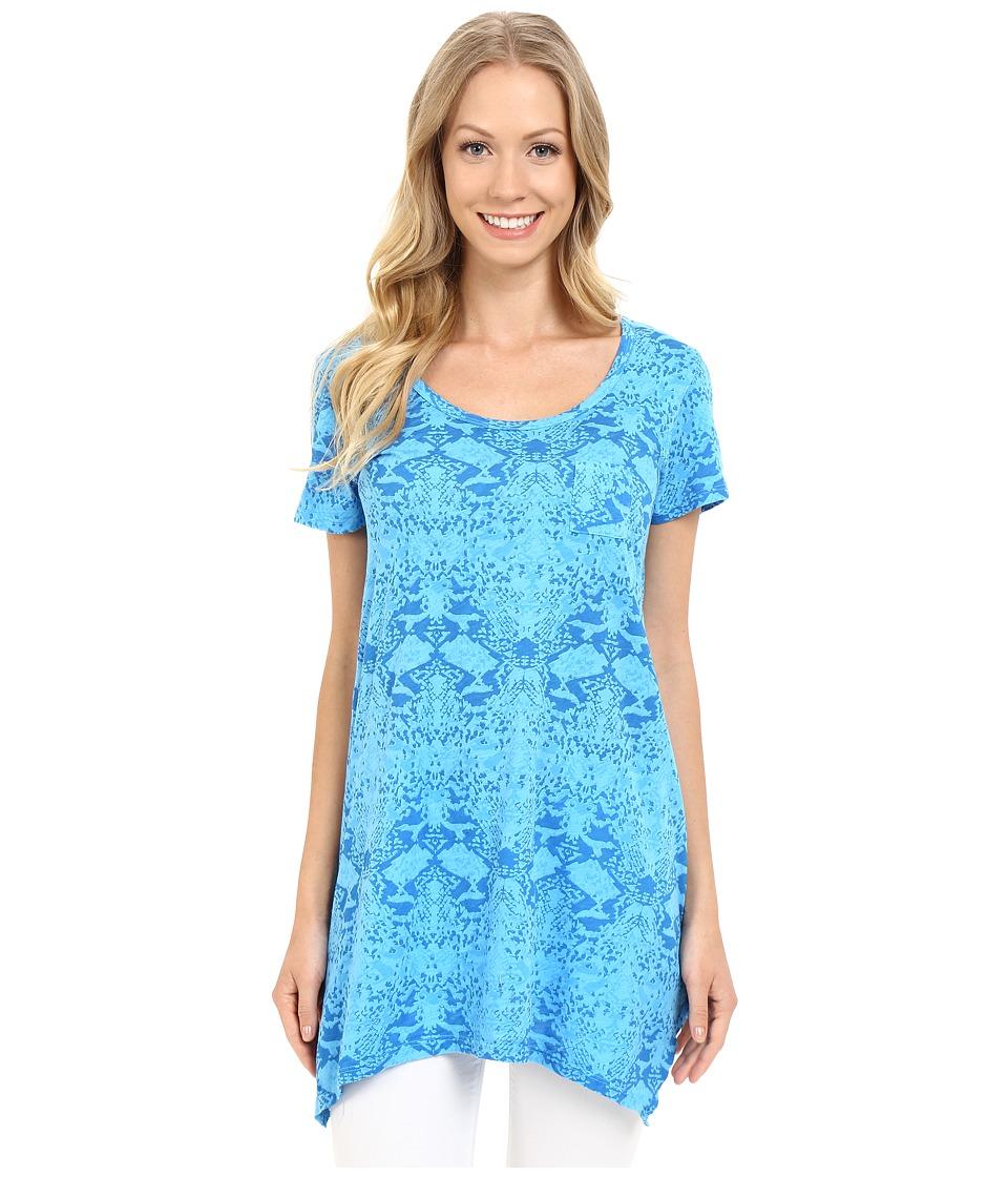 Fresh Produce Gecko Vintage Drape Tee Marina Blue Womens Short Sleeve Pullover