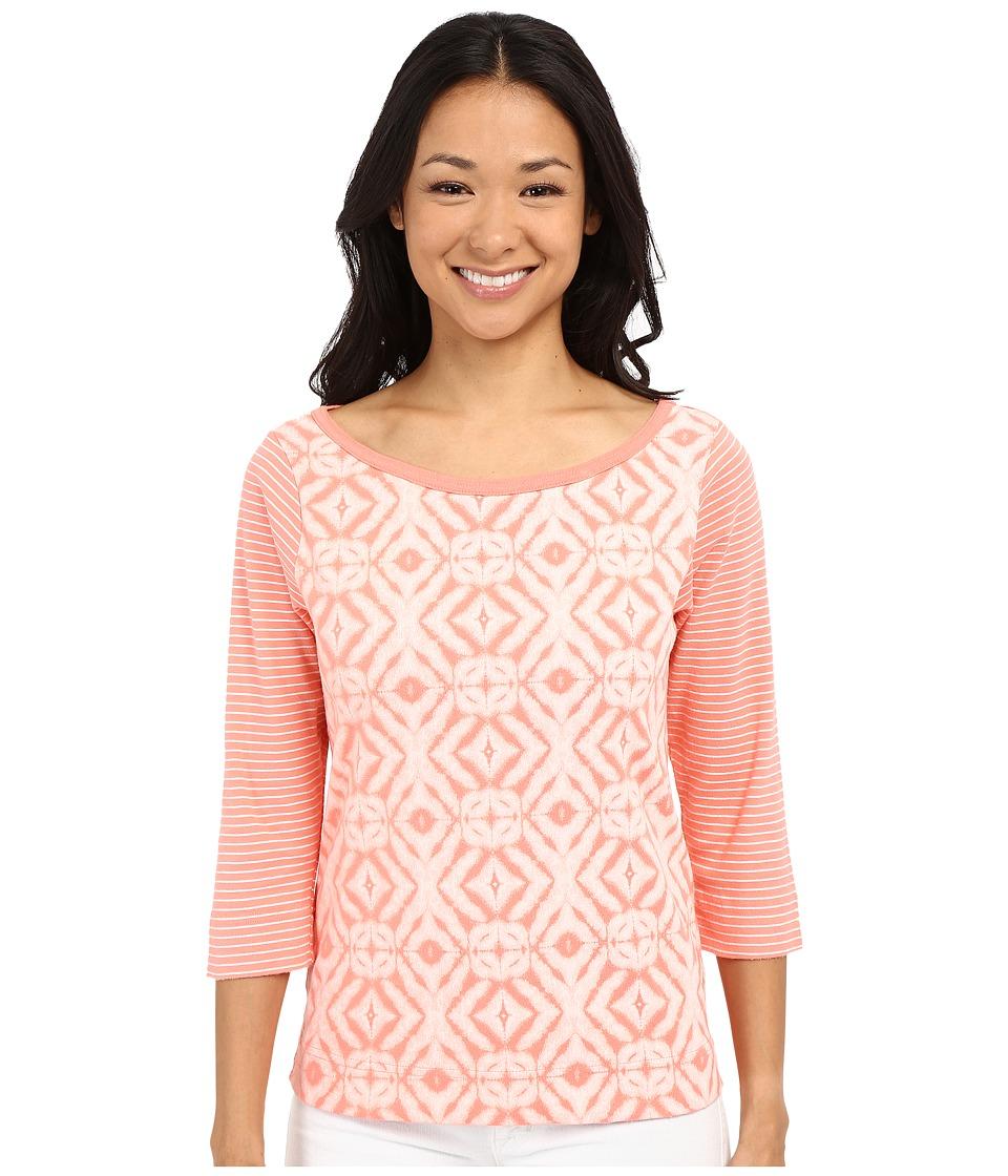 Fresh Produce Shibori Bella Mingle Top Melon Sherbert Womens Clothing