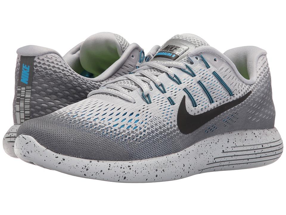 Nike LunarGlide 8 Shield (Wolf Grey/Cool Grey/Blue Glow/Black) Men