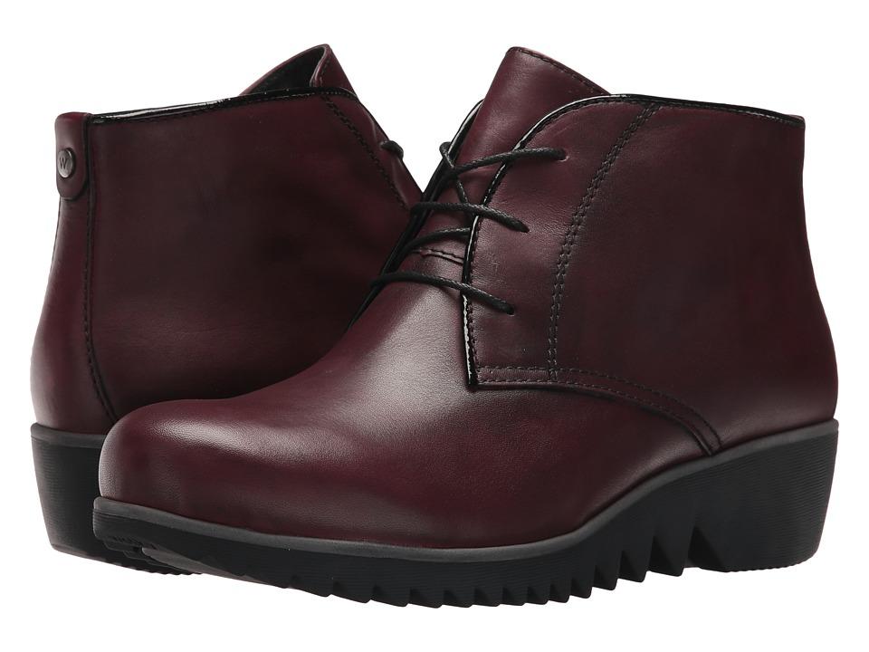 Wolky Dusky Winter (Bordo Velvet Leather) Women