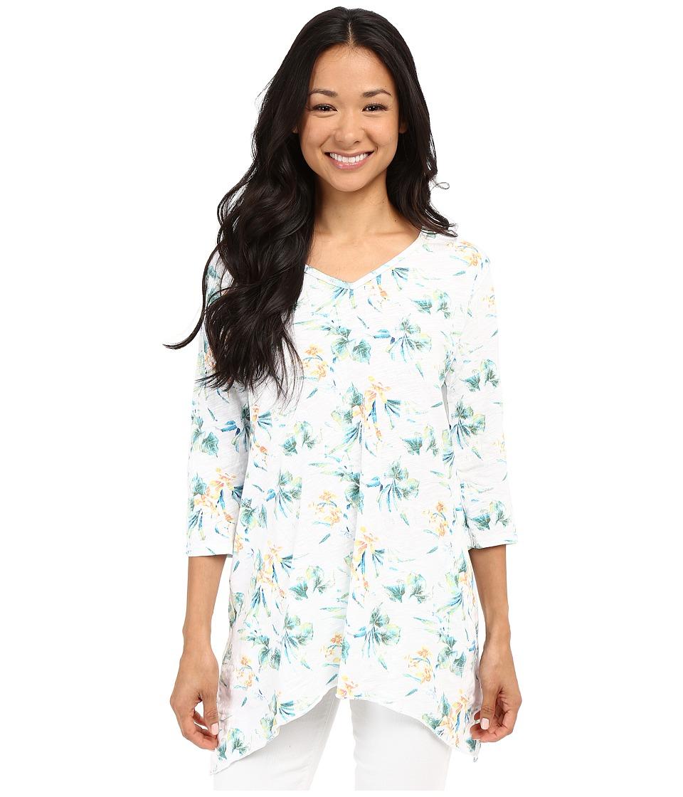 Fresh Produce Paradise Santa Barbara Top White Womens Long Sleeve Pullover