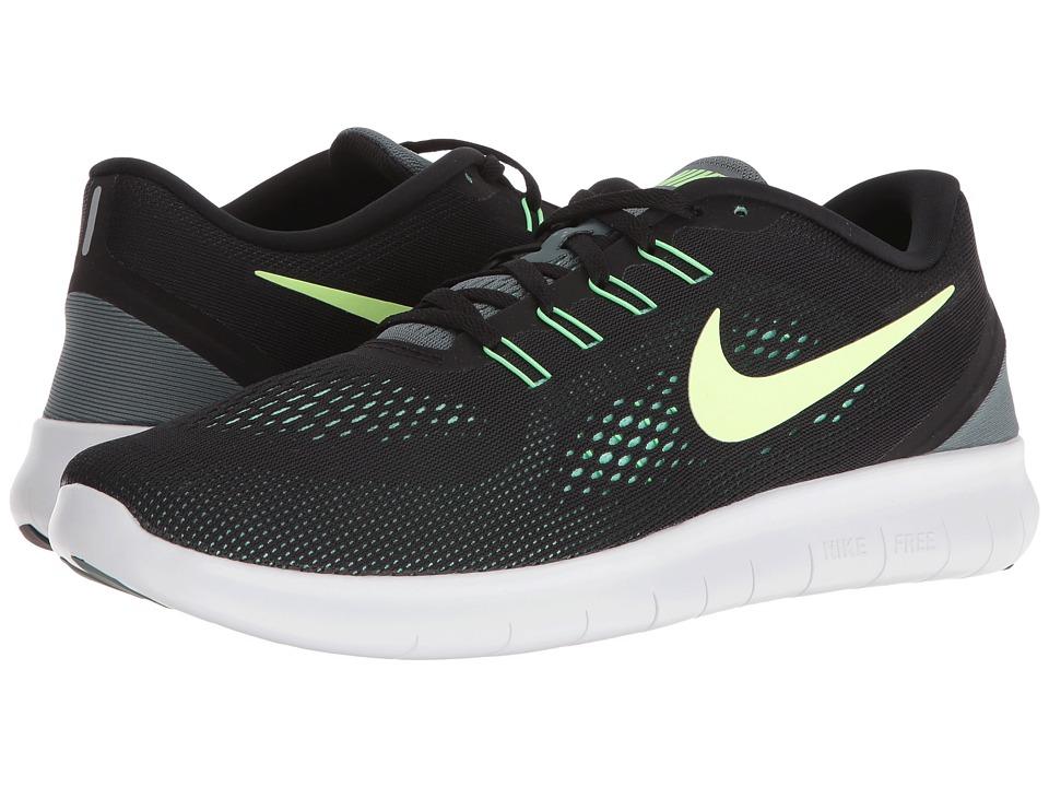 Nike Free RN (Black/Hasta/Green Glow/Ghost Green) Men
