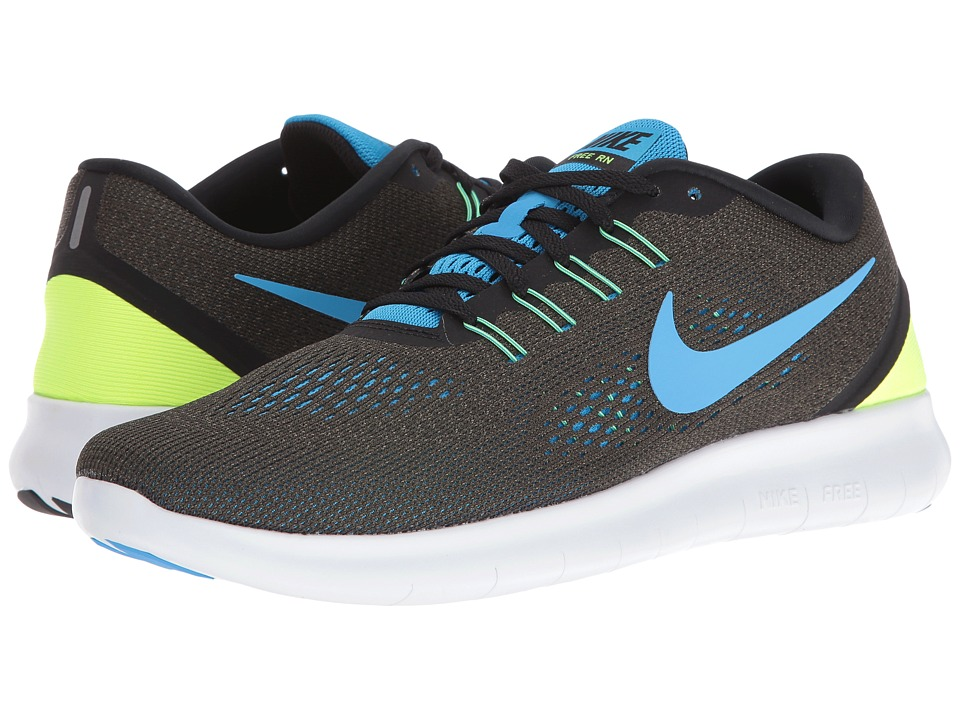 Nike Free RN (Cargo Khaki/Black/Volt/Blue Glow) Men