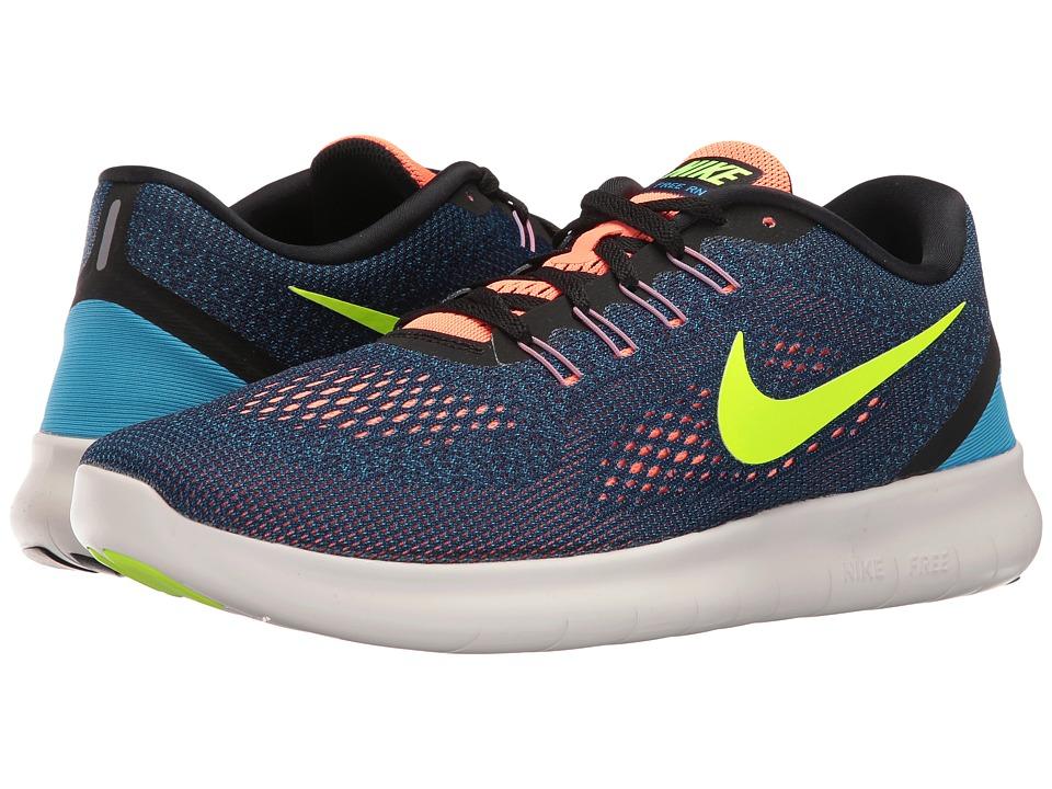 Nike Free RN (Purple Dynasty/Black/Bright Mango/Volt) Men