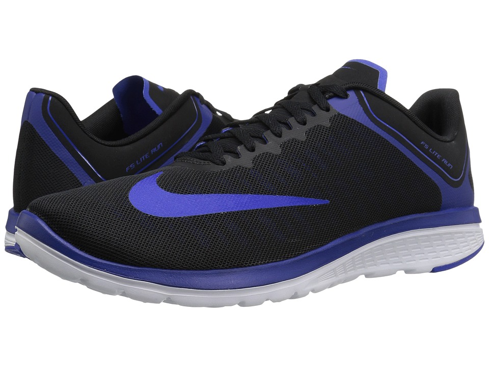 Nike FS Lite Run 4 (Black/Racer Blue/Deep Royal Blue/White) Men