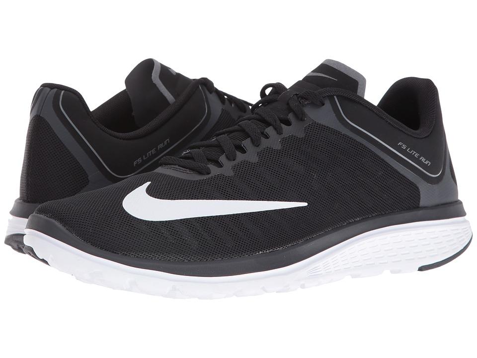 Nike - FS Lite Run 4 (Black/White/Anthracite/Charcoal Grey) Men's Running Shoes