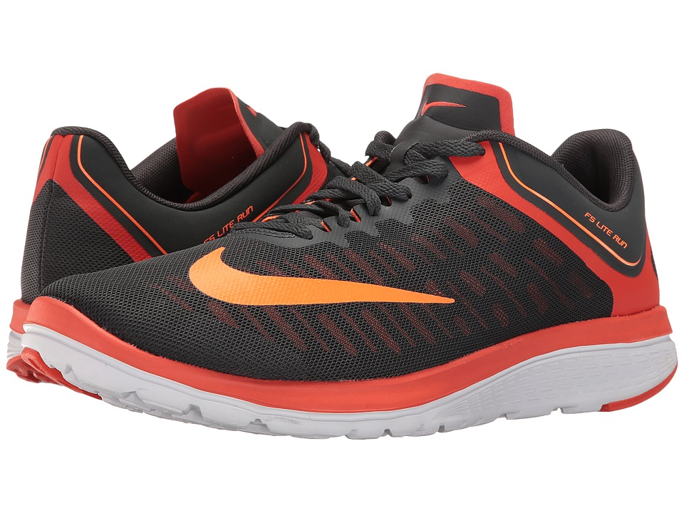 Nike FS Lite Run 4 (Anthracite/Total Orange/Team Orange/White) Men