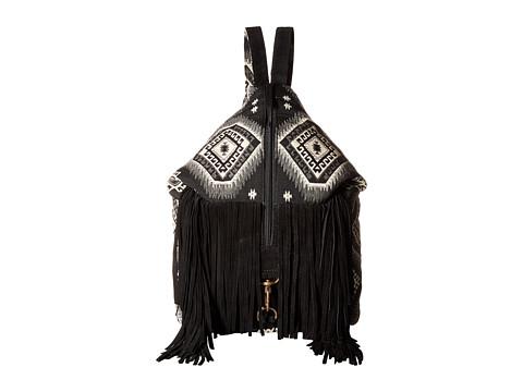 Scully Kali Fringe Handbag - Black/White