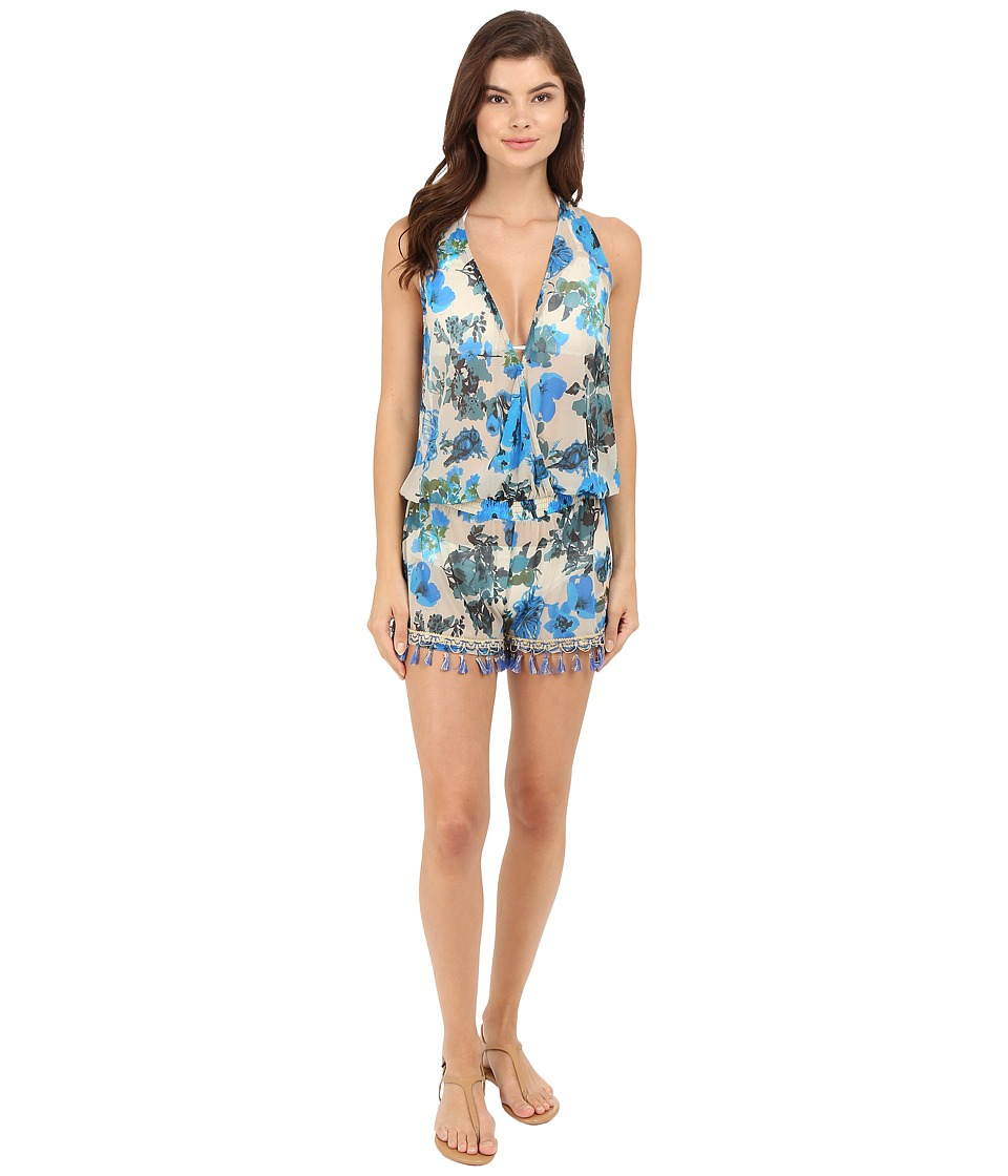 Maaji Sapphire Reverie Cover Up Romper Multicolor Womens Swimsuits One Piece