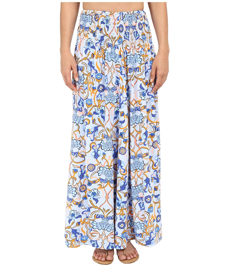 Maaji Blue Honeycomb Cover Up Maxi Skirt Multicolor Womens Swimwear