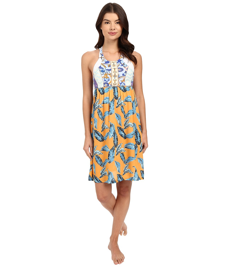 Maaji Leafy Life Cover Up Short Dress Multicolor Womens Swimwear