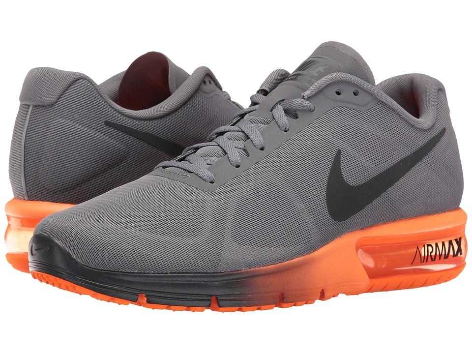 Nike Air Max Sequent (Charcoal Grey/Metallic Hematite/Total Orange/Anthracite) Men