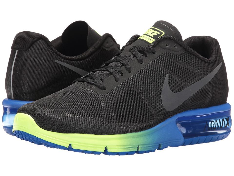Nike Air Max Sequent (Black/Anthracite/Hyper Cobalt/Ghost Green) Men