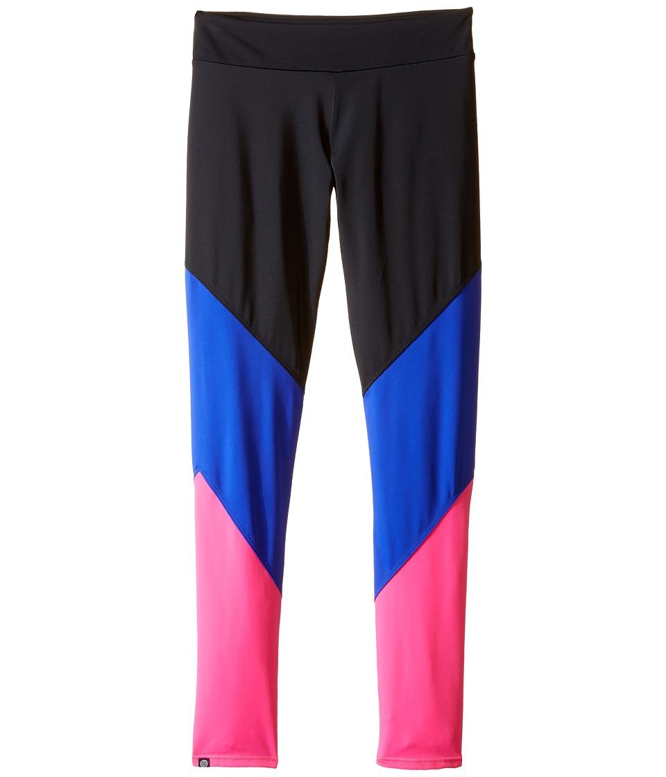 Onzie Kids Track Leggings Little Kids/Big Kids Black/Royal/Pink Girls Casual Pants