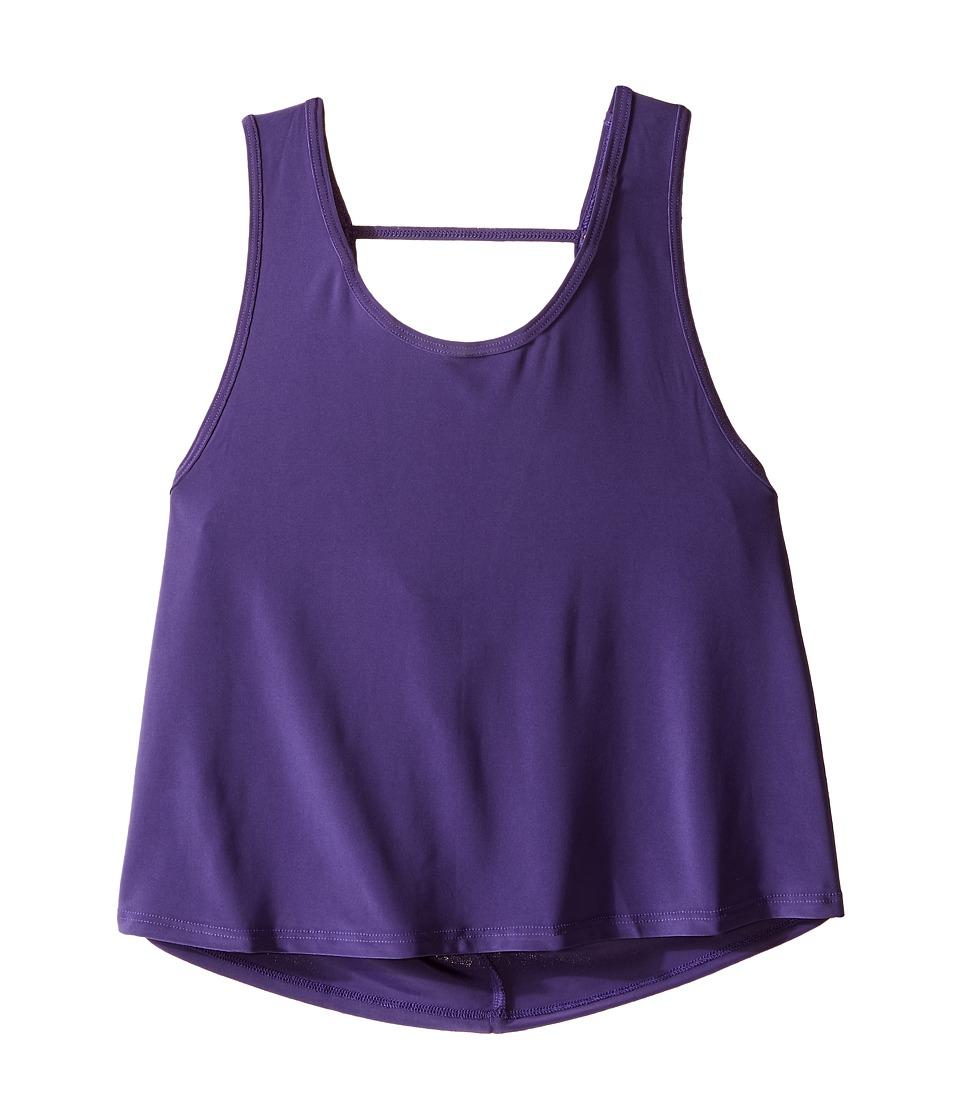 Onzie Kids Scoop Back Tank Top Big Kids Purple Girls Sleeveless