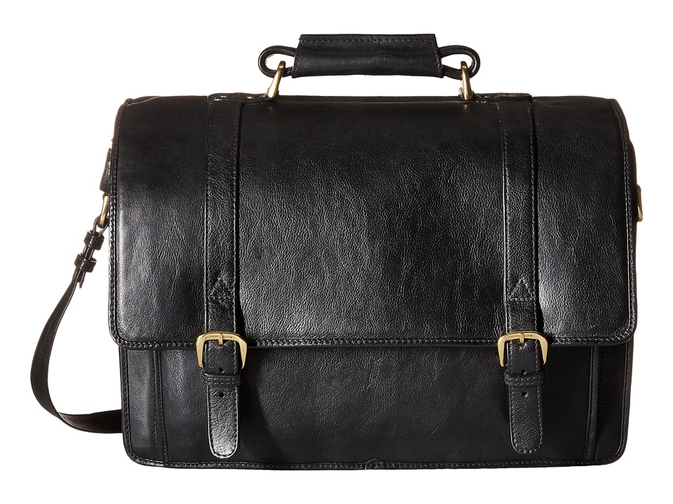 Scully - Hidesign Adrian Computer Brief Bag (Black) Briefcase Bags