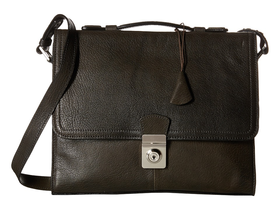 Scully - Hidesign Fabian Brief Bag (Black) Briefcase Bags
