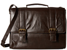 Scully Hidesign Angell Computer Brief Bag (Brown)