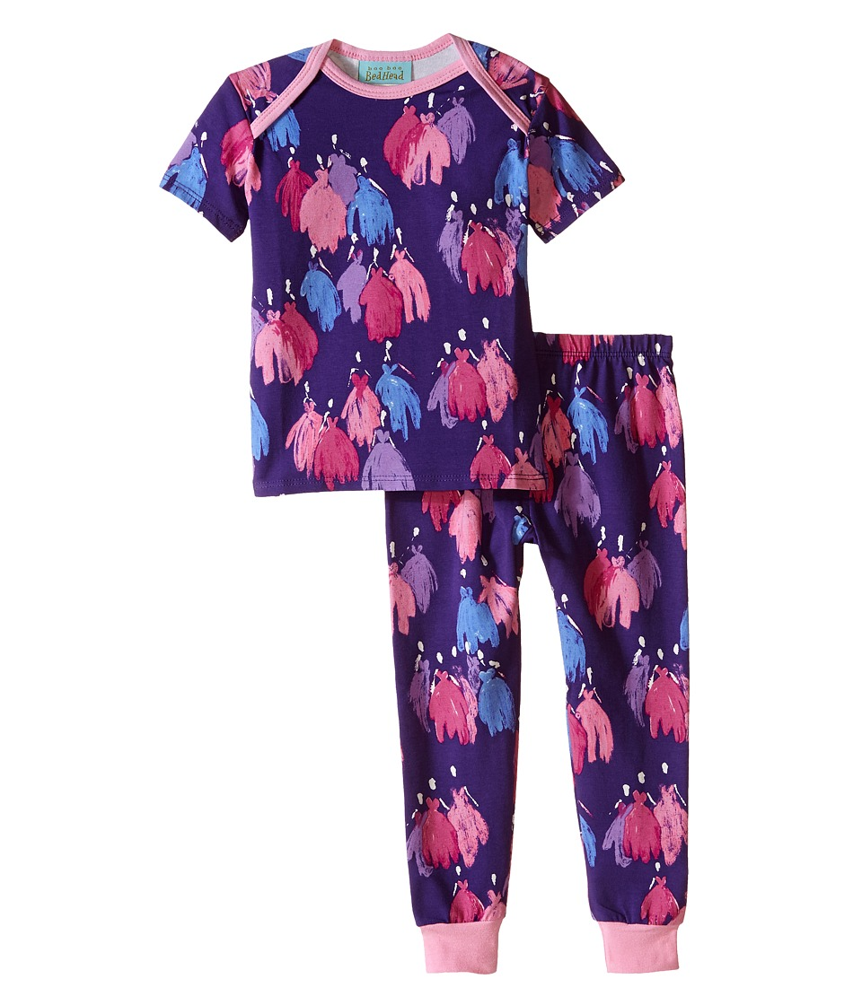 BedHead Kids Short Sleeve Long Bottom Pajama Set Infant Purple Bell of the Ball Girls Pajama Sets