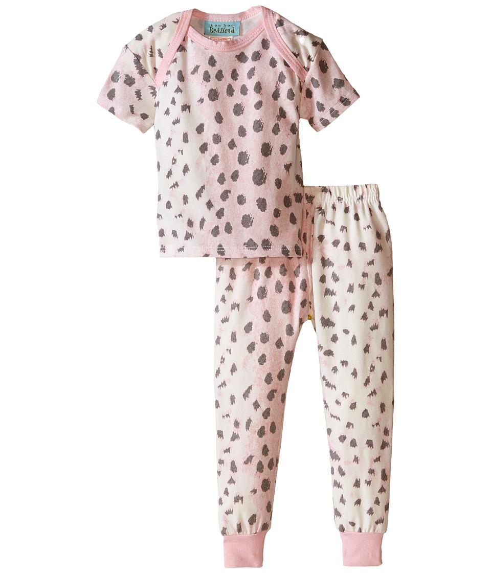 BedHead Kids Short Sleeve Long Bottom Pajama Set Infant Pink Royal Animal Girls Pajama Sets