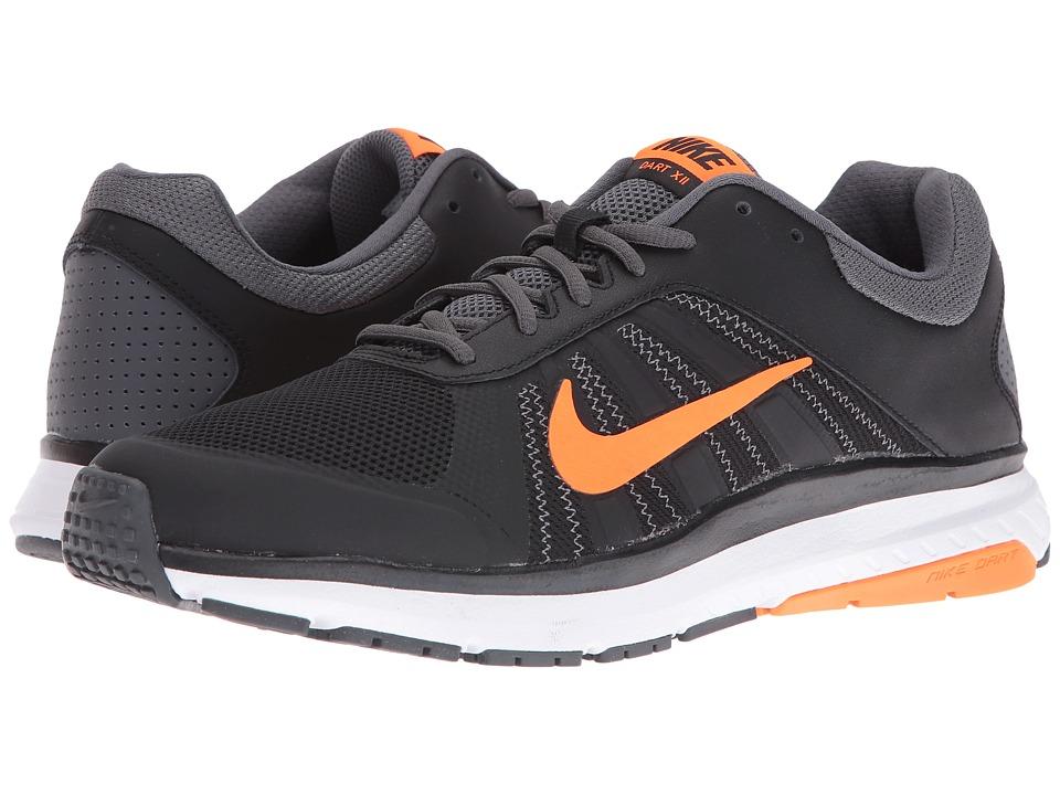 Nike - Dart 12 (Black/Total Orange/Dark Grey/White) Mens Running Shoes
