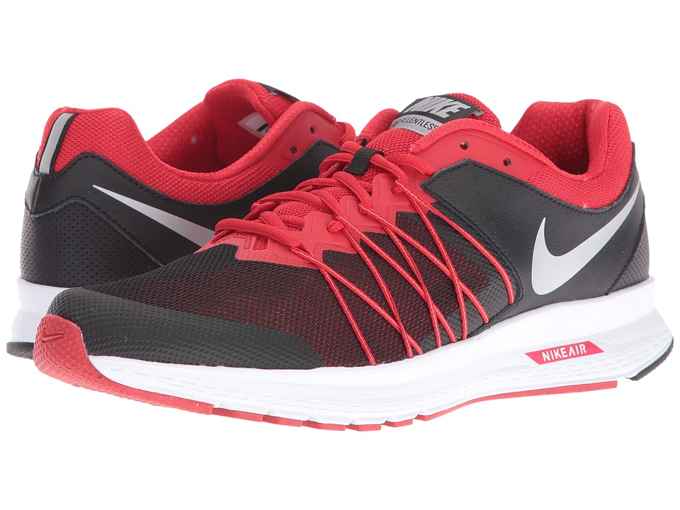 Nike - Air Relentless 6 (Black/University Red/Bright Mango/Metallic Silver) Mens Running Shoes