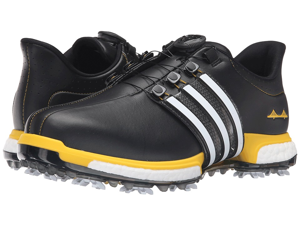 adidas Golf - Tour 360 BOA Boost - Limited Edition U.S. Open (Black/White/Yellow) Mens Golf Shoes