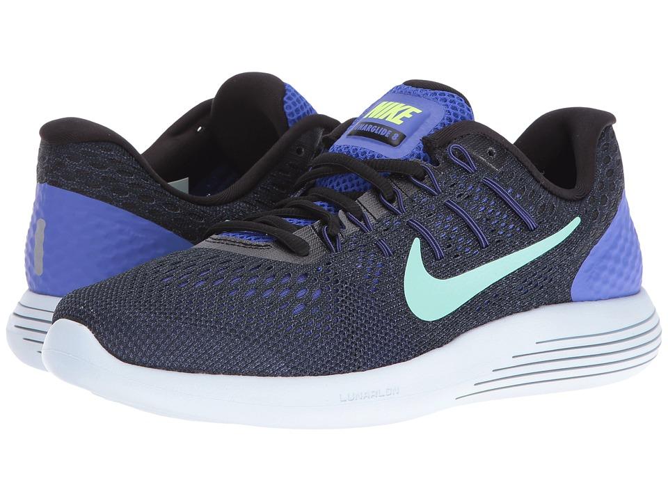 Nike - Lunarglide 8 (Persian Violet/Black/Purple Dust/Green Glow) Womens Running Shoes