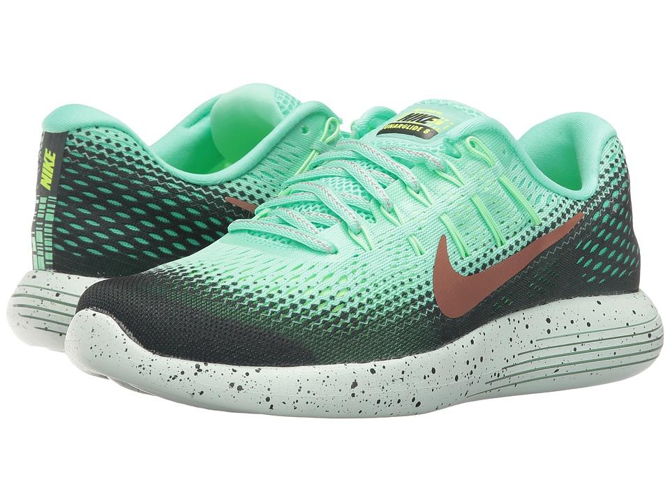 Nike - LunarGlide 8 Shield (Green Glow/Hasta/Ghost Green/Metallic Red Bronze) Womens Running Shoes