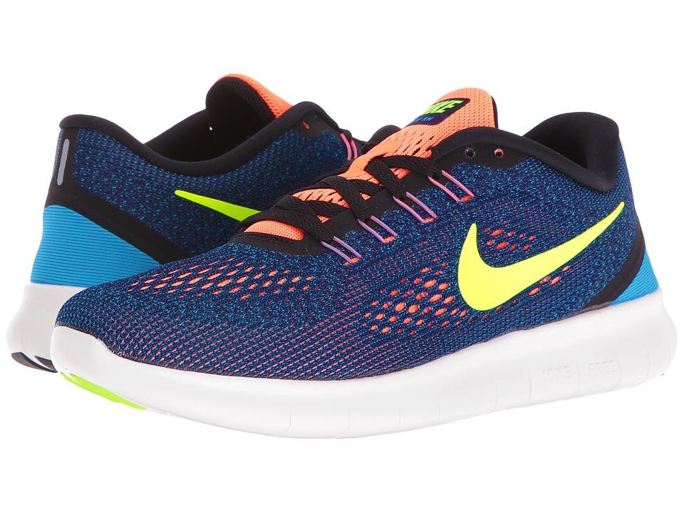 Nike - Free RN (Purple Dynasty/Volt/Black/Bright Mango) Womens Running Shoes