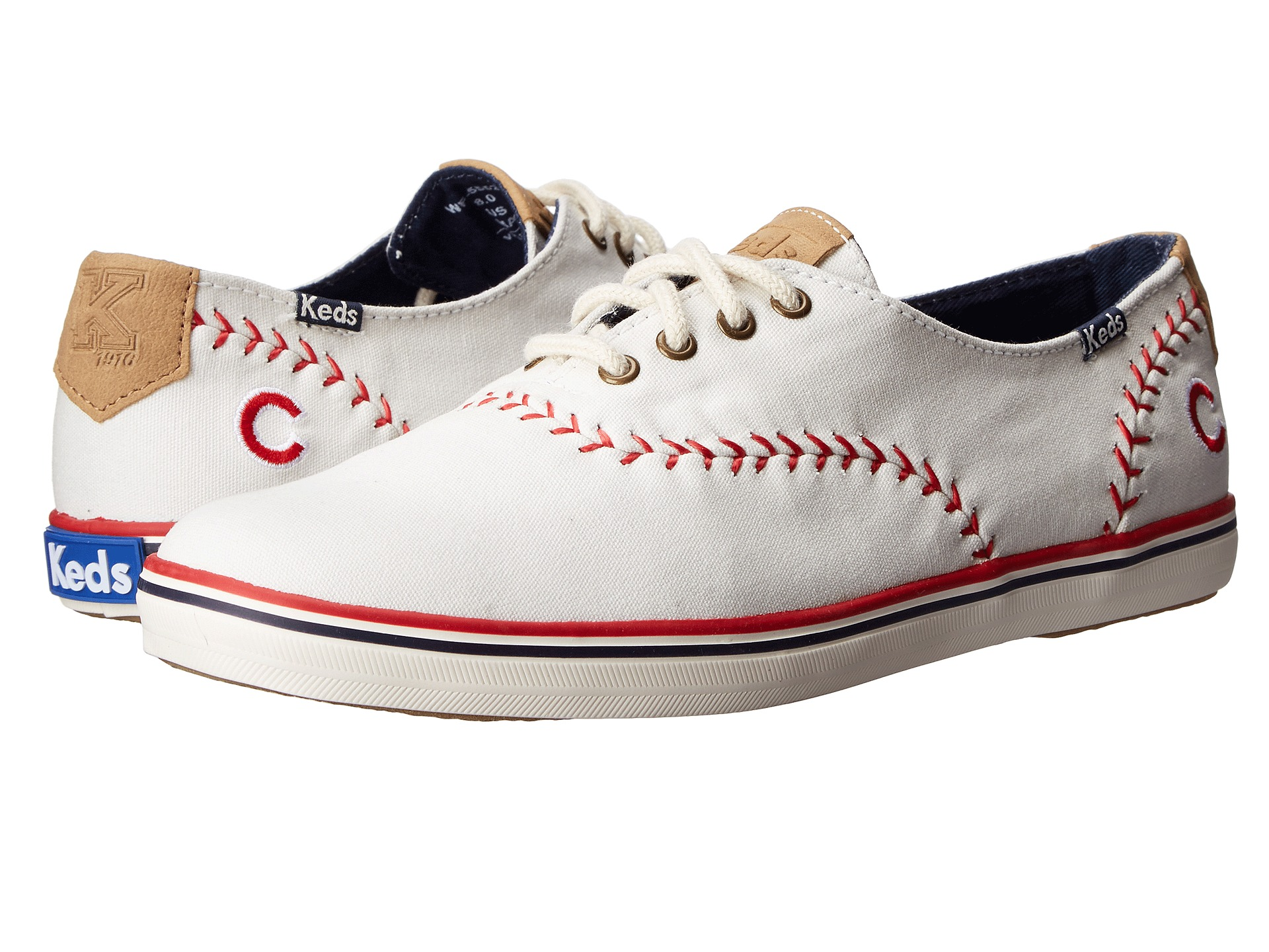 keds chion mlb pennant cubs white canvas zappos