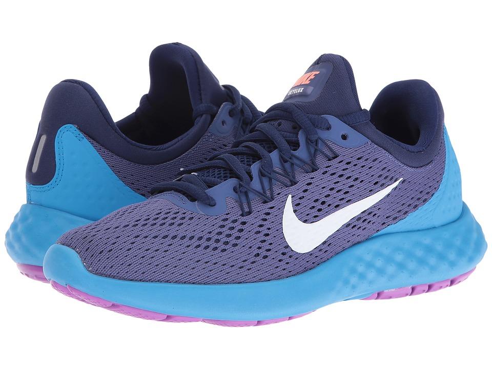 Nike - Lunar Skyelux (Dark Purple Dust/Loyal Blue/Blue Glow/White) Womens Shoes