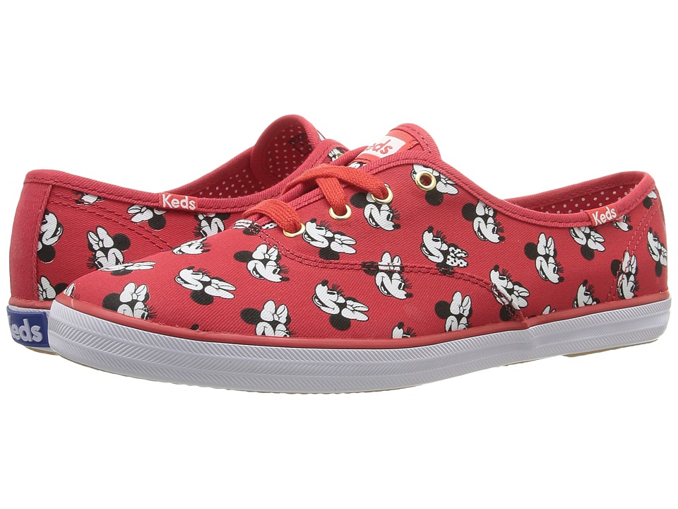 Keds Champion Minnie (Red Canvas) Women