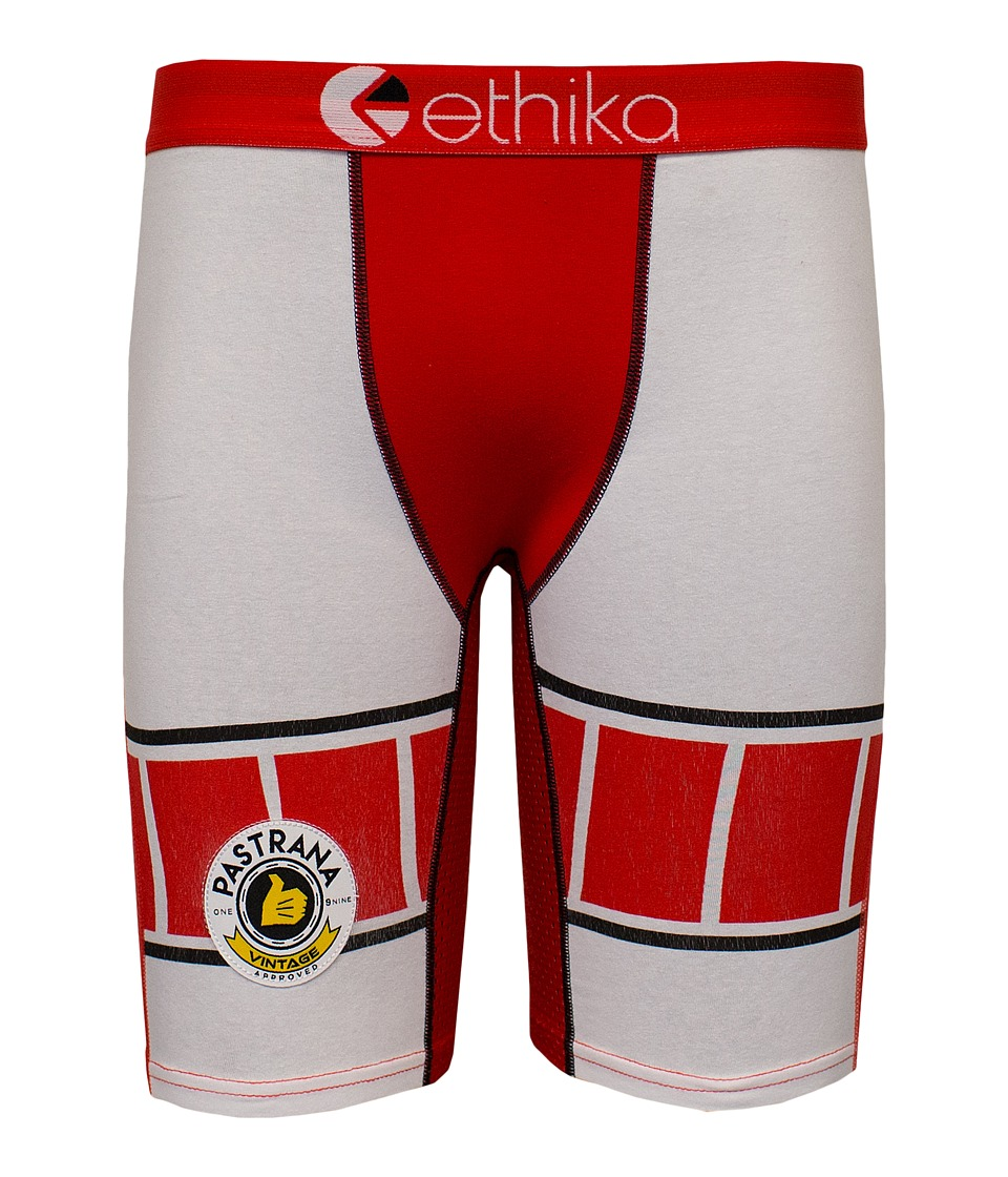 ethika The Staple Pastrana Vintage Roberts Boxer Brief Red/White Mens Underwear