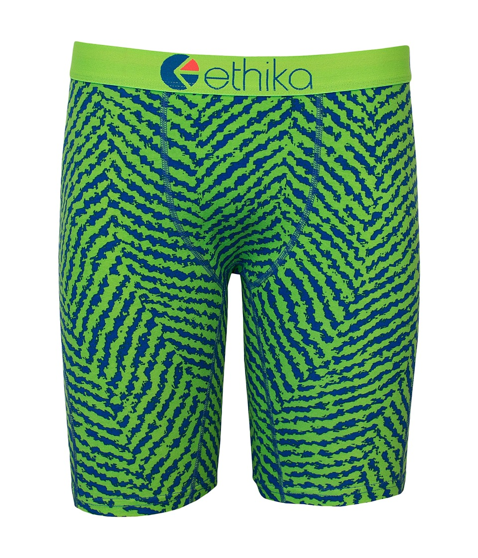 ethika The Staple Jacquard Boxer Brief Lime Mens Underwear