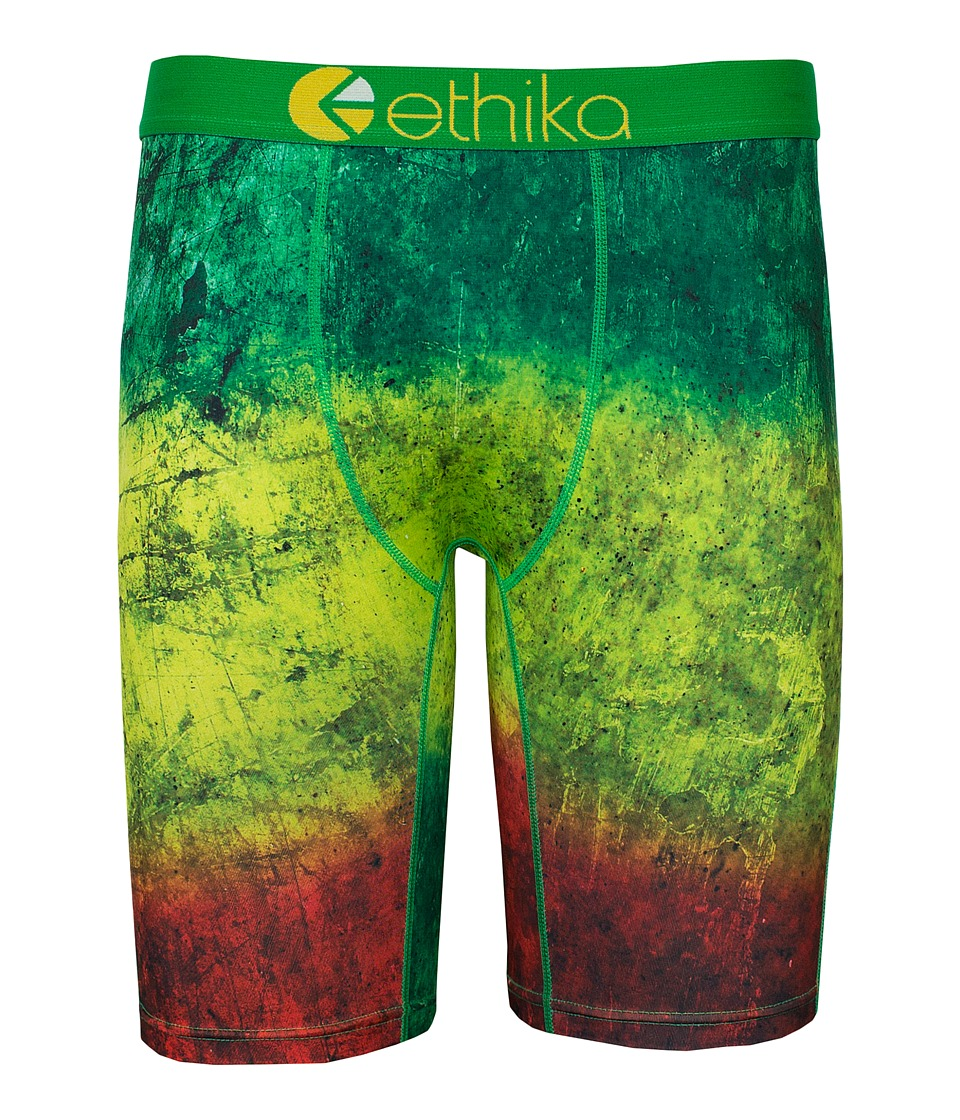 ethika The Staple Jamrock Boxer Brief Yellow/Green Mens Underwear