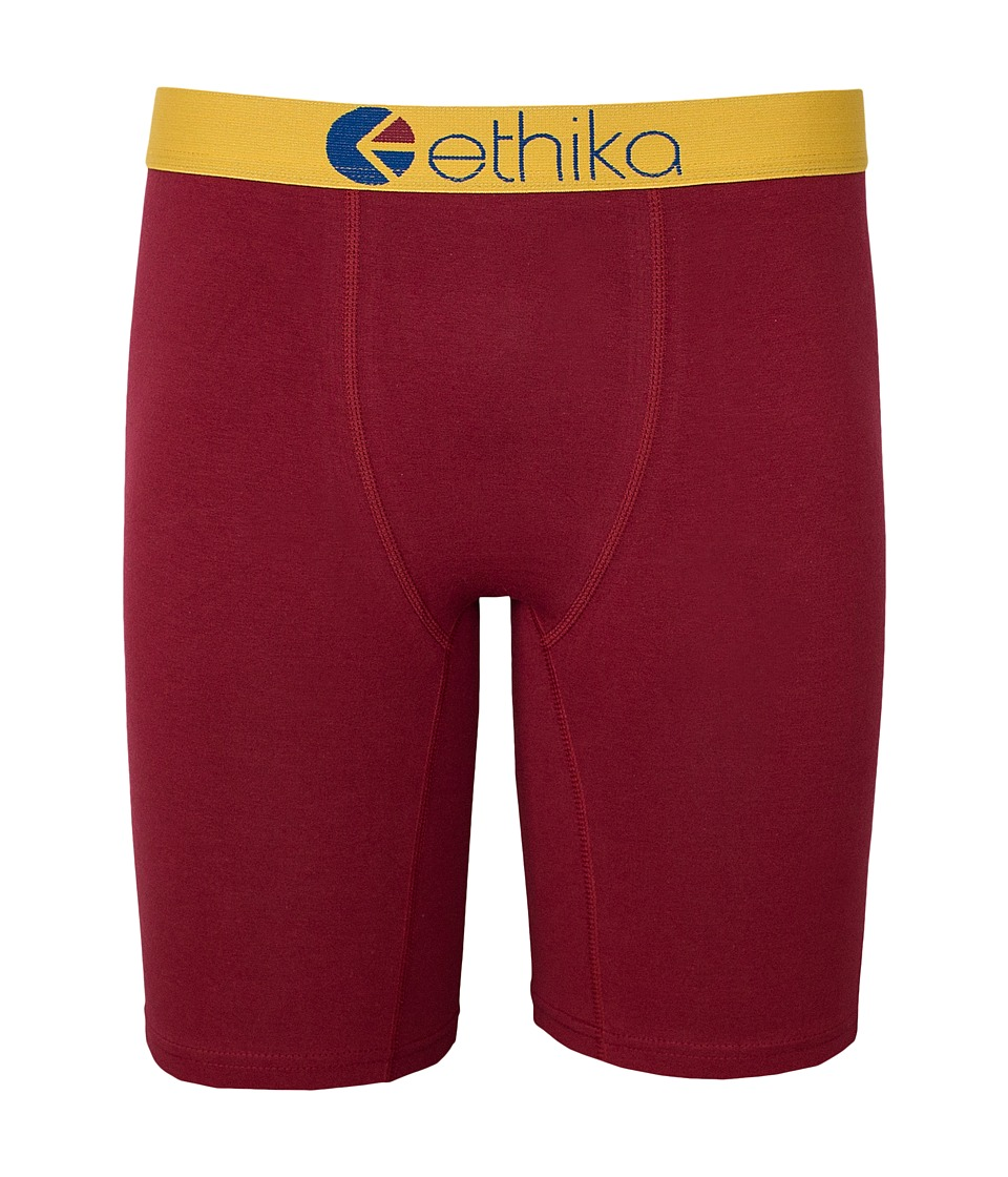 ethika The Staple Cavalier Wine Boxer Brief Maroon Mens Underwear