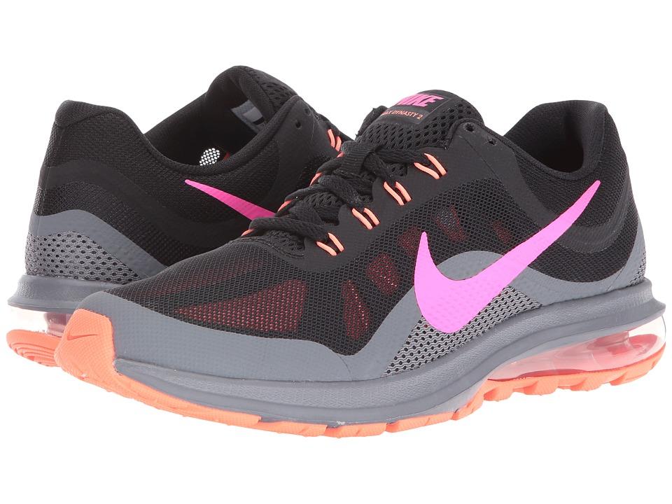 Nike - Air Max Dynasty 2 (Black/Cool Grey/Bright Mango/Pink Blast) Women's Running Shoes