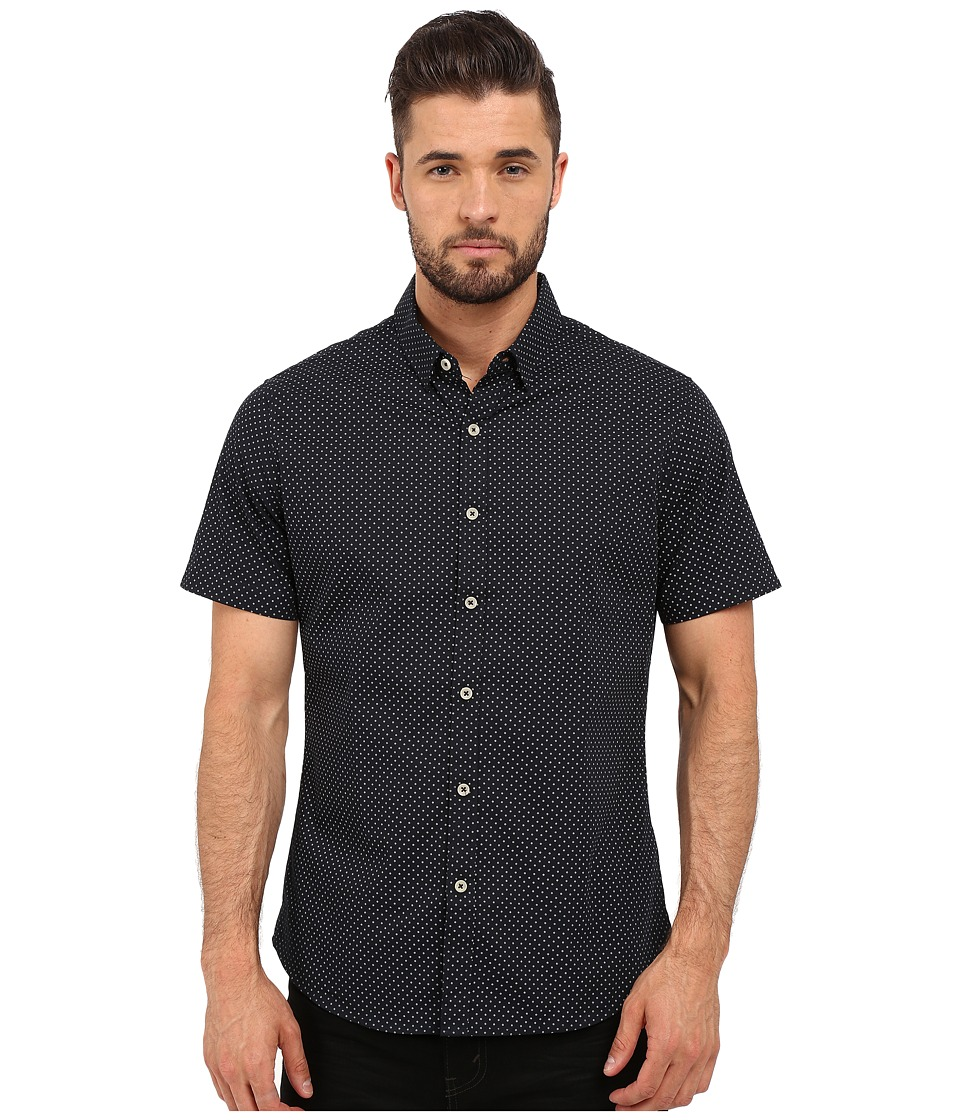 Image of 7 Diamonds - Avalon Short Sleeve Shirt (Navy) Men's Short Sleeve Button Up