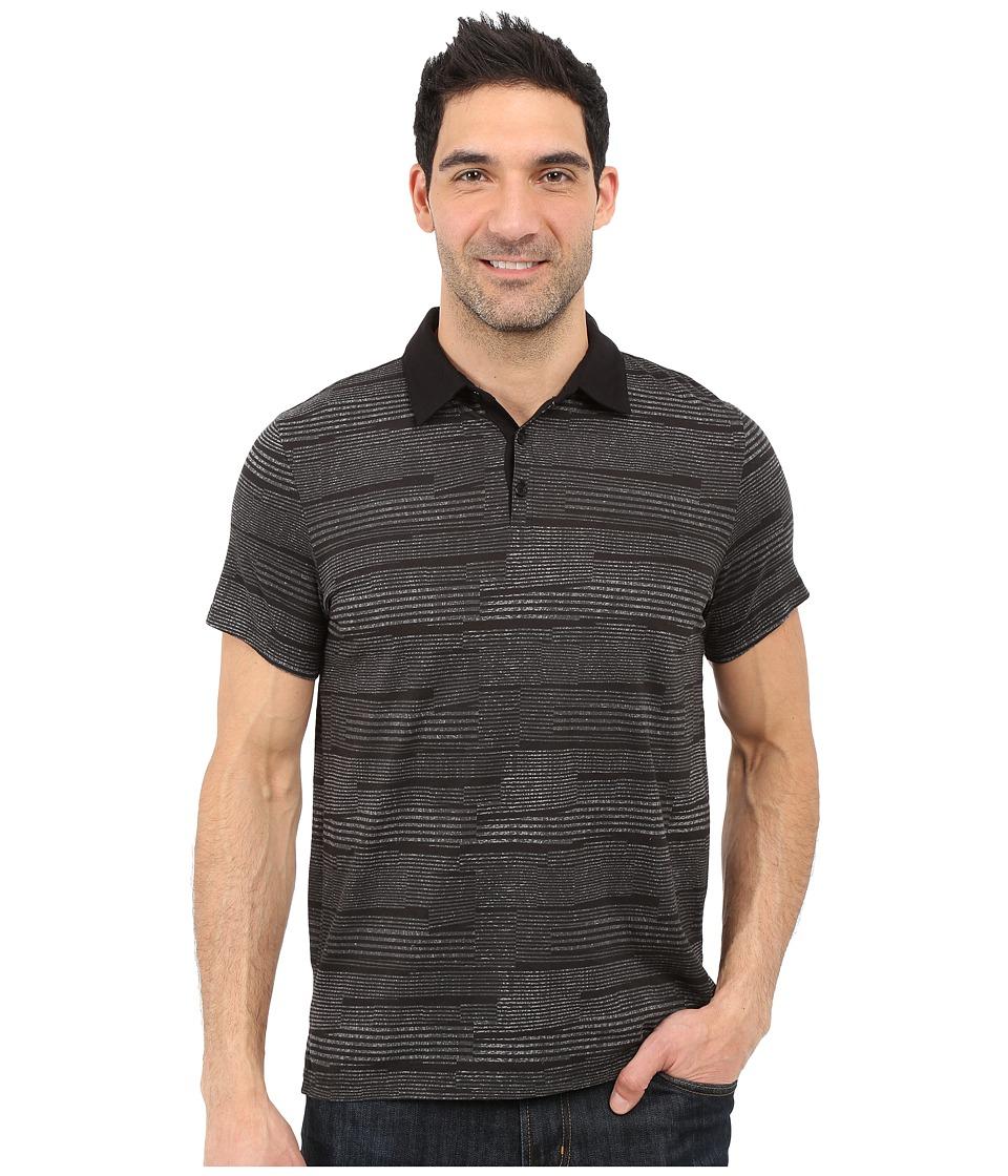 Calvin klein slim fit broken stripe polo shirt black for Calvin klein x fit dress shirt