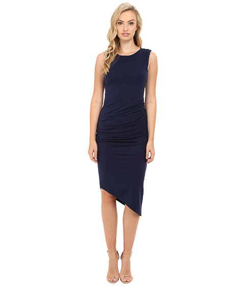 Michael Stars Ruched Midi Tee Dress - Nocturnal