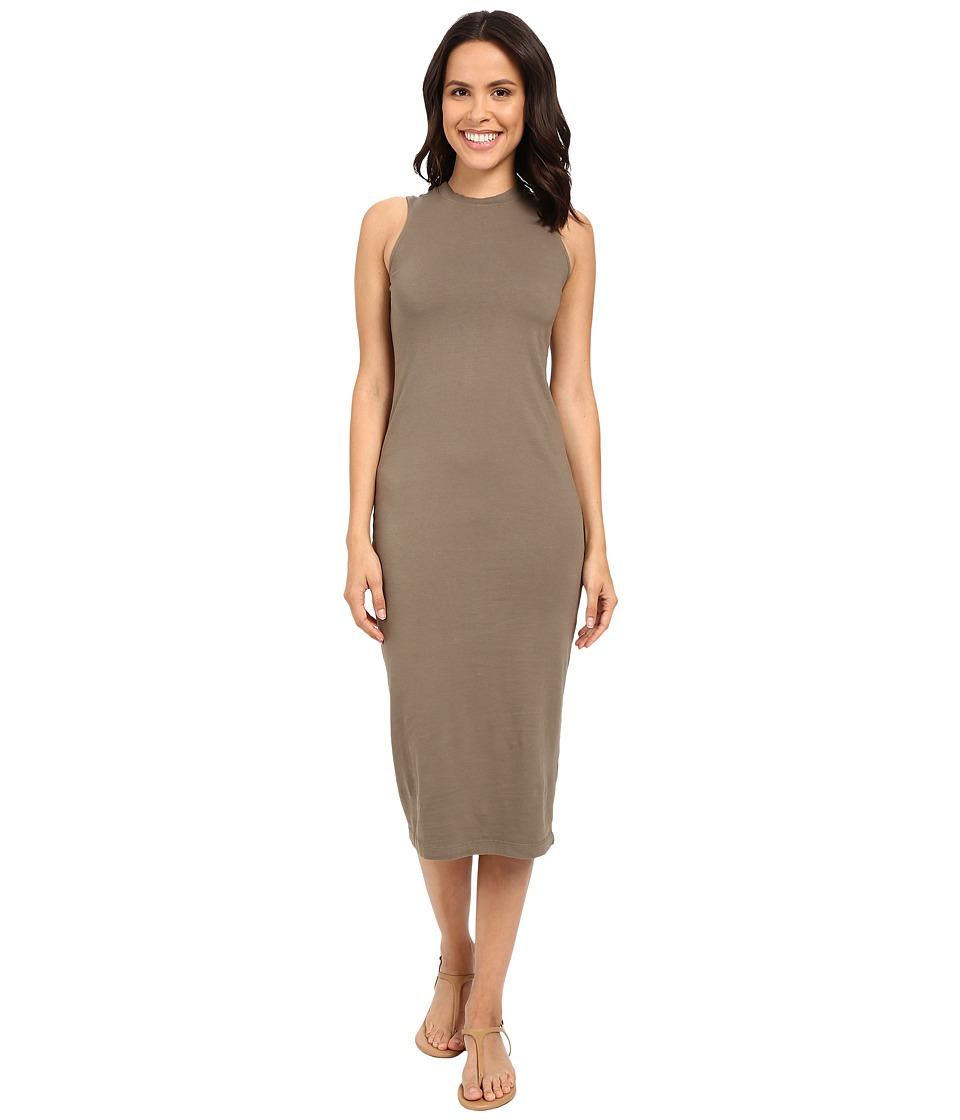 Michael Stars Cotton Lycra Tank Midi Dress (Caper) Women