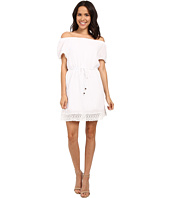Michael Stars - Double Gauze Off Shoulder Dress w/ Crochet