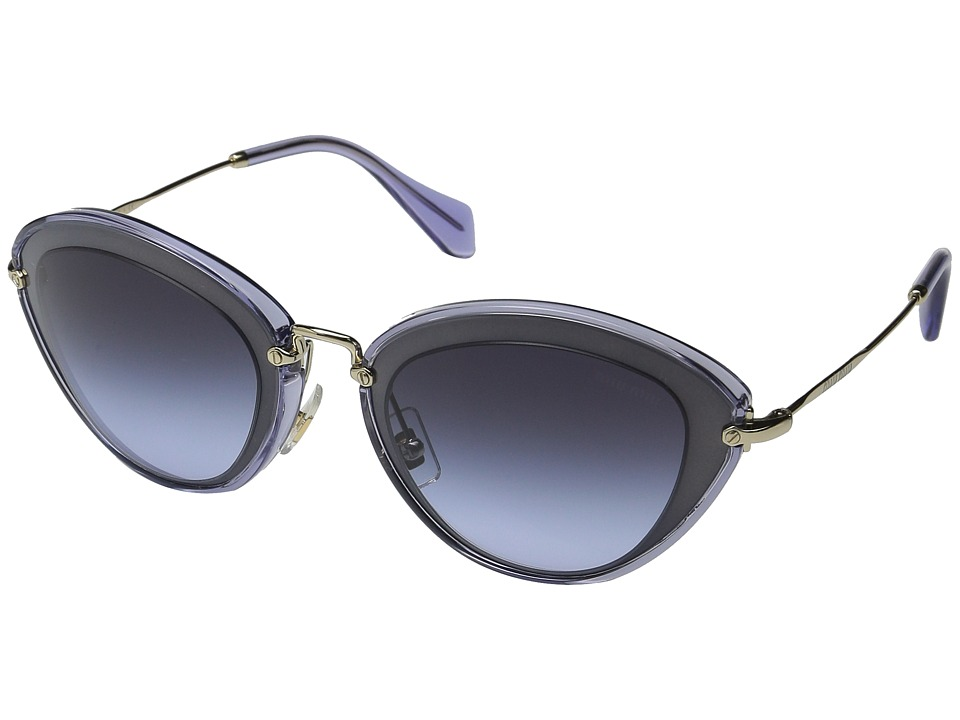 Miu Miu 0MU 51RS Navy/Blue Gradient Fashion Sunglasses
