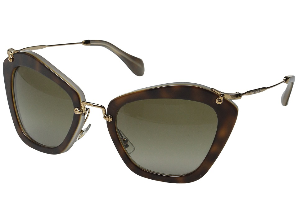 Miu Miu 0MU 10NS Tortoise/Green Fashion Sunglasses